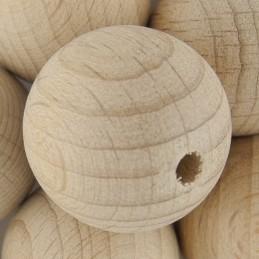 Preciosa pyöreä puuhelmi 20 mm, käsittelemätön