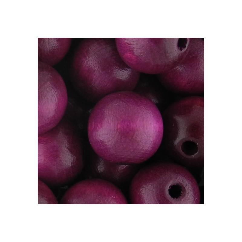 Preciosa pyöreä lakattu puuhelmi 12 mm, lila