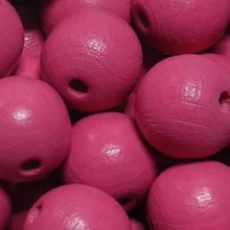 Preciosa pyöreä lakattu puuhelmi 12 mm, tummempi vaaleanpunainen