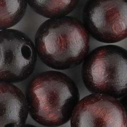 Preciosa pyöreä lakattu puuhelmi 12 mm, tummanruskea