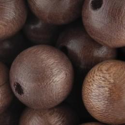 Preciosa pyöreä lakattu puuhelmi 12 mm, vaaleanruskea
