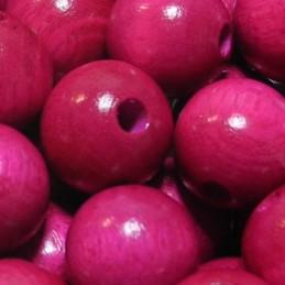 Preciosa pyöreä lakattu puuhelmi 12 mm, pinkki