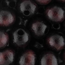Preciosa pyöreä lakattu puuhelmi 8 mm, tummanruskea