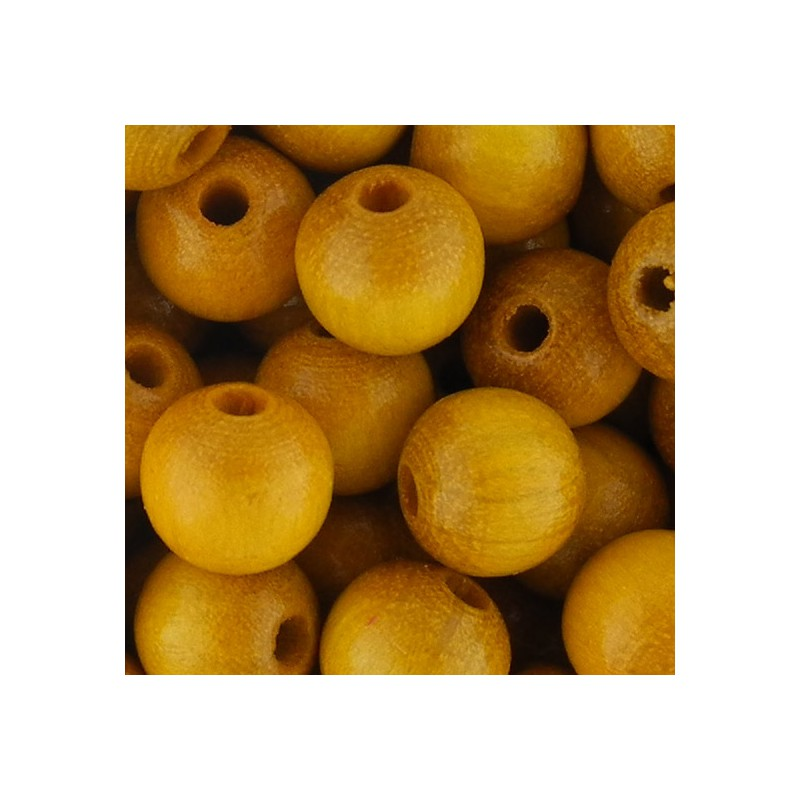 Preciosa pyöreä lakattu puuhelmi 8 mm, keltainen