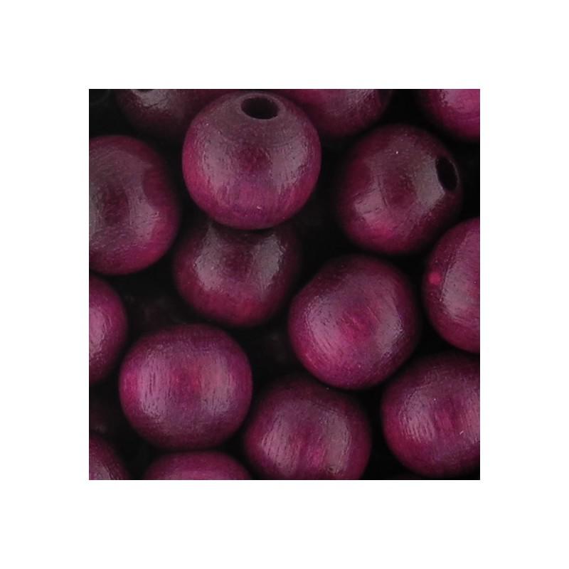 Preciosa pyöreä lakattu puuhelmi 8 mm, lila