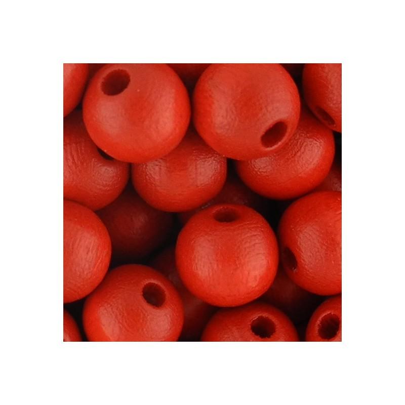 Preciosa pyöreä lakattu puuhelmi 8 mm, punainen