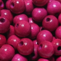 Preciosa pyöreä lakattu puuhelmi 6 mm, pinkki