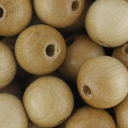 Preciosa pyöreä lakattu puuhelmi 10 mm, puunvärinen