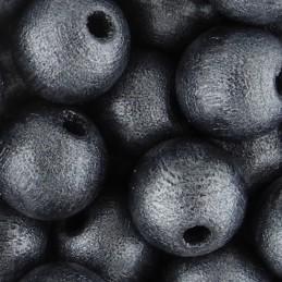 Preciosa pyöreä lakattu puuhelmi 10 mm, helmeilevä harmaa