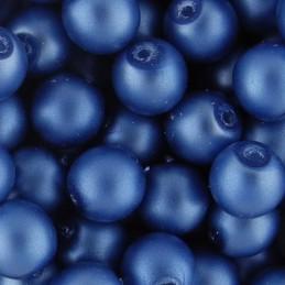 Preciosa pyöreä mattapintainen helmiäislasihelmi 6 mm, sininen