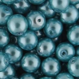 Preciosa pyöreä helmiäislasihelmi 6 mm, tummempi vaaleansininen