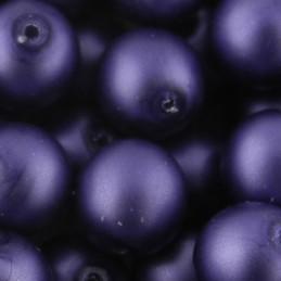 Preciosa pyöreä mattapintainen helmiäislasihelmi 8 mm, lila