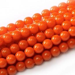 Tsekkiläinen pyöreä Happy Color lasihelmi 4 mm, oranssi