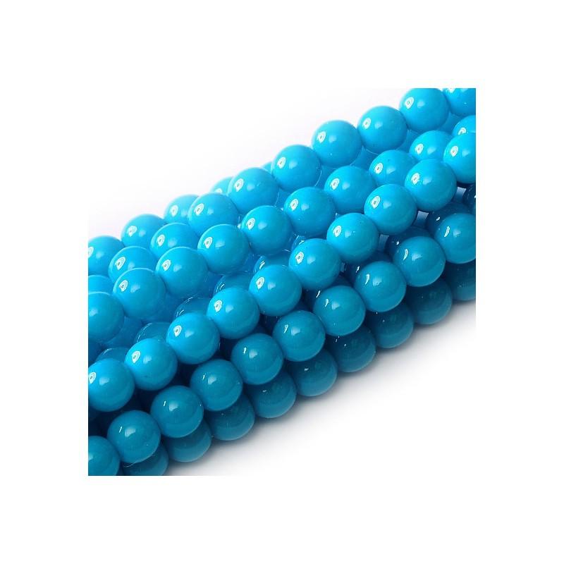 Tsekkiläinen pyöreä Happy Color lasihelmi 4 mm, sininen