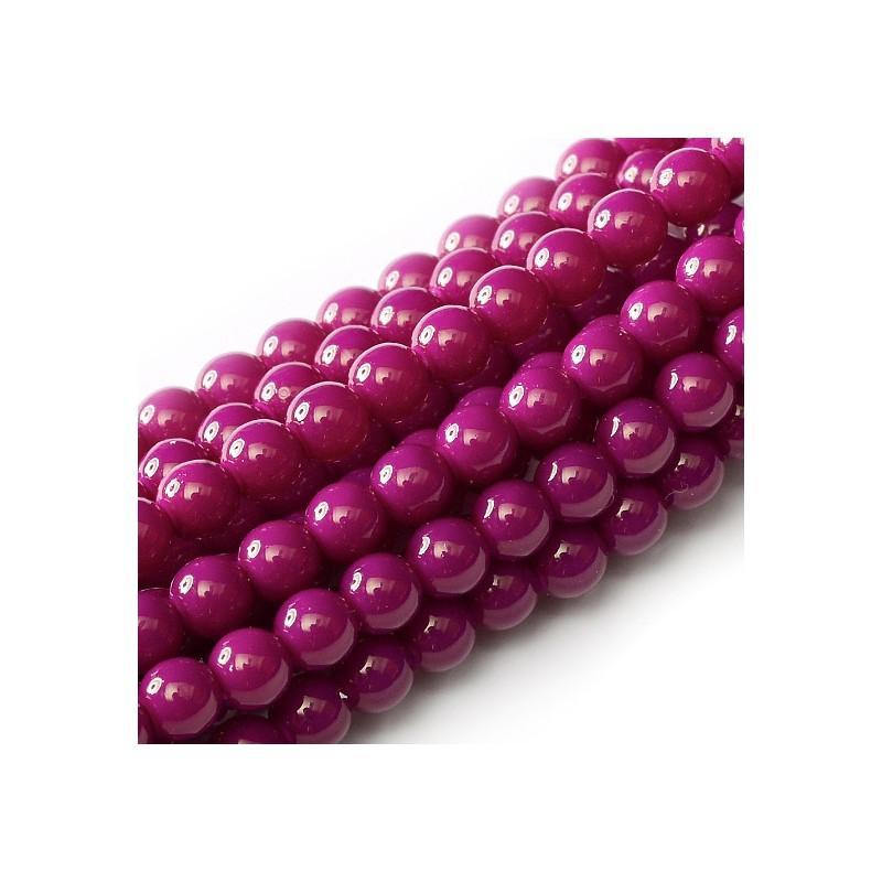 Tsekkiläinen pyöreä Happy Color lasihelmi 4 mm, luumunpunainen