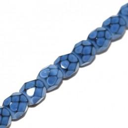 Tsekkiläinen pyöreä fasettihiottu Snake lasihelmi 4 mm, sininen