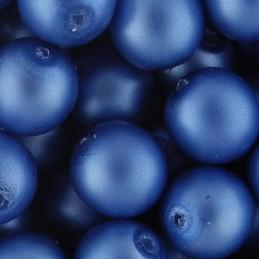 Preciosa pyöreä mattapintainen helmiäislasihelmi 10 mm, sininen