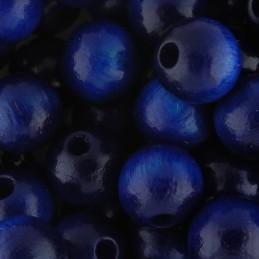 Preciosa pyöreä lakattu puuhelmi 8 mm, tummansininen