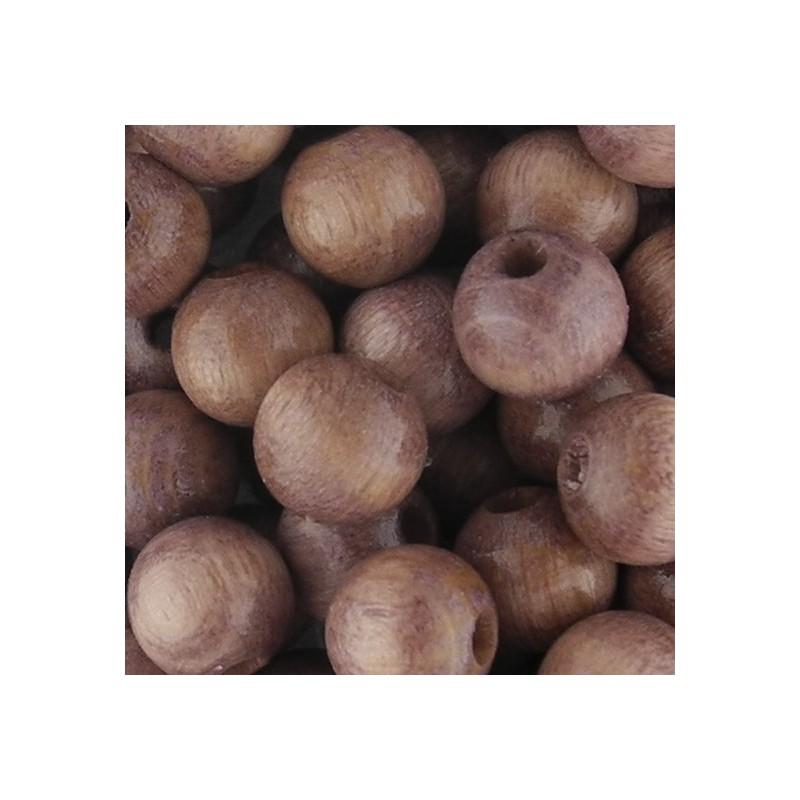 Preciosa pyöreä lakattu puuhelmi 8 mm, vaaleanruskea