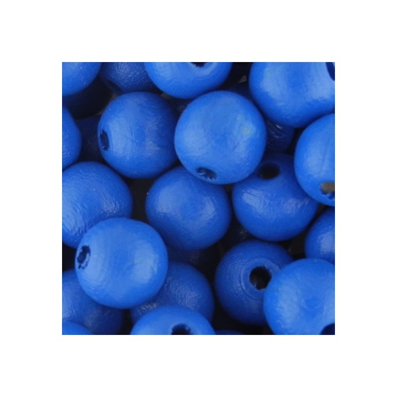 Preciosa pyöreä lakattu puuhelmi 8 mm, sininen