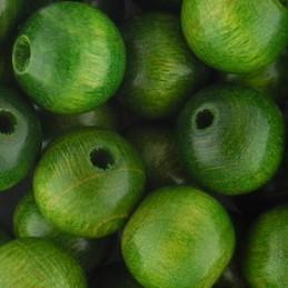 Preciosa pyöreä lakattu puuhelmi 10 mm, vihreä