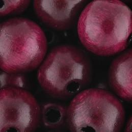 Preciosa pyöreä lakattu puuhelmi 10 mm, lila