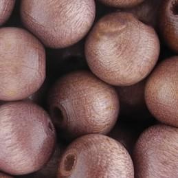 Preciosa pyöreä lakattu puuhelmi 10 mm, vaaleanruskea