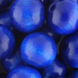 Preciosa pyöreä lakattu puuhelmi 12 mm, tummansininen