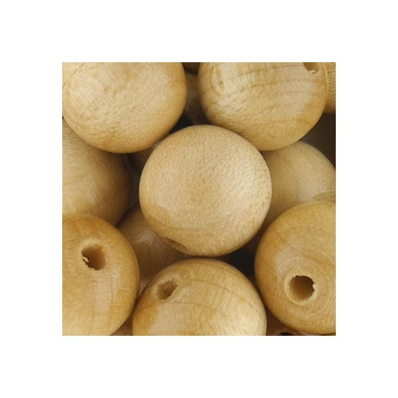 Preciosa pyöreä lakattu puuhelmi 12 mm, puunvärinen
