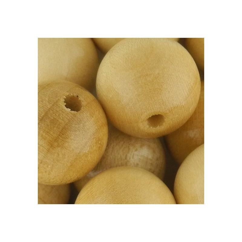 Preciosa pyöreä lakattu puuhelmi 14 mm, puunvärinen