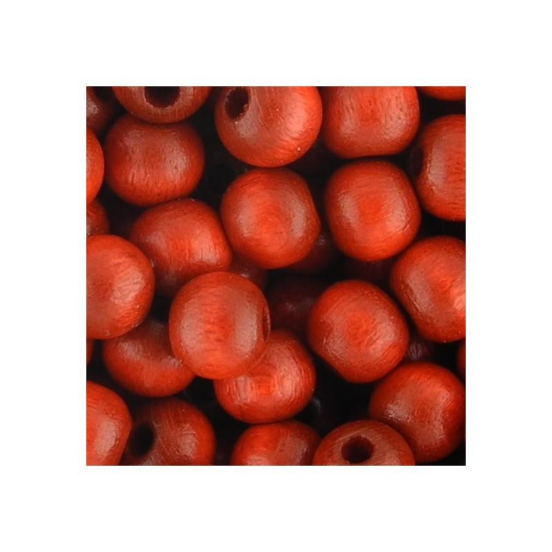Preciosa pyöreä lakattu puuhelmi 6 mm, punainen