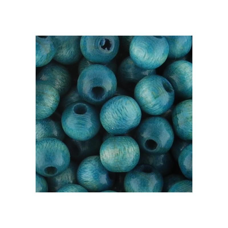 Preciosa pyöreä lakattu puuhelmi 6 mm, sininen
