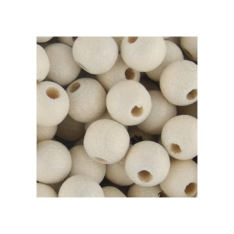 Preciosa pyöreä lakattu puuhelmi 6 mm, luonnonvalkoinen