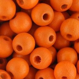 Preciosa pyöreä lakattu puuhelmi 6 mm, oranssi