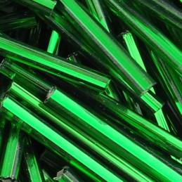 Lasiputki lasihimmelien tekoon. Preciosa putkihelmi 30 mm, hopeasisus vihreä