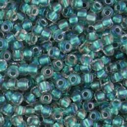 Toho pyöreä siemenhelmi 11/0, sisältävärjätty kirkas AB sisävärinä sinivihreä
