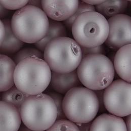 Preciosa pyöreä mattapintainen helmiäislasihelmi 6 mm, vaalea vanha roosa