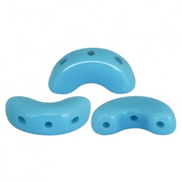 Arcos® par Puca® lasihelmi 5 x 10 mm, opaakki siniturkoosi