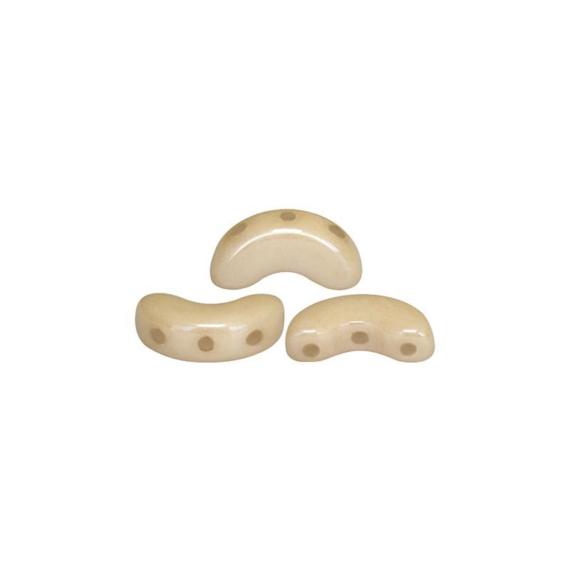 Arcos® par Puca® lasihelmi 5 x 10 mm, opaakki keraaminen beige