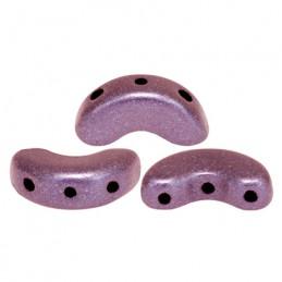 Arcos® par Puca® lasihelmi 5 x 10 mm, metallinen matta tumma luumu