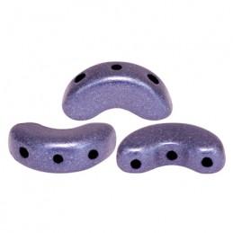 Arcos® par Puca® lasihelmi 5 x 10 mm, metallinen matta violetti