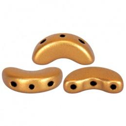 Arcos® par Puca® lasihelmi 5 x 10 mm, matta pronssinen kulta