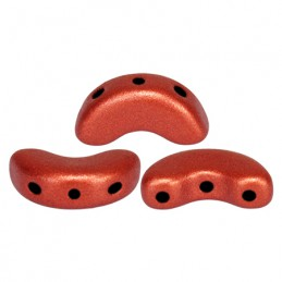 Arcos® par Puca® lasihelmi 5 x 10 mm, matta pronssinen punainen
