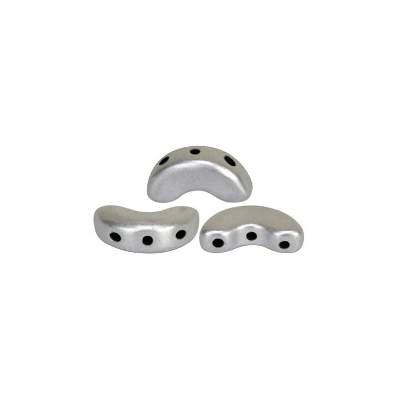 Arcos® par Puca® lasihelmi 5 x 10 mm, matta alumiini hopea