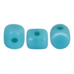Minos® par Puca® lasihelmi 2,5 x 3 mm, opaakki siniturkoosi