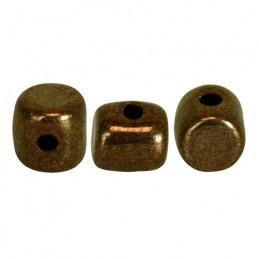Minos® par Puca® lasihelmi 2,5 x 3 mm, opaakki tumma kultainen pronssi