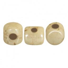 Minos® par Puca® lasihelmi 2,5 x 3 mm, opaakki keraaminen beige