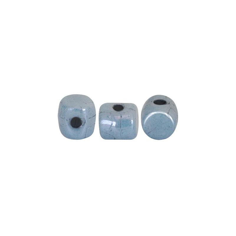 Minos® par Puca® lasihelmi 2,5 x 3 mm, opaakki keraaminen sininen