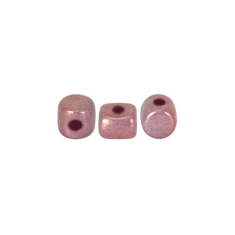 Minos® par Puca® lasihelmi 2,5 x 3 mm, opaakki keraaminen violetti/kulta