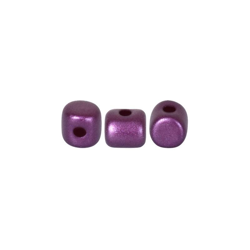 Minos® par Puca® lasihelmi 2,5 x 3 mm, pastelli bordeaux